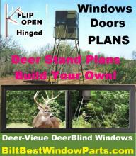 """deer blind door kits include all the extrusion components pre-cut for self assembly or 're-sizing"""" to fit your needs."""