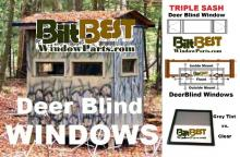 top quality, aluminum framed and real glass deer hunting blind and stand windows