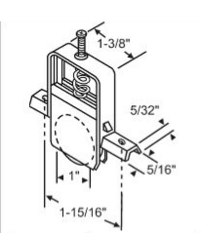 Steel Wheel Patio Screen Door Roller Assembly Per Pair Biltbest Window Parts