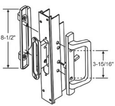 Pgt Sliding Glass Door Parts Series 830 Po F23 3 White