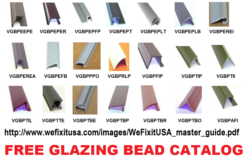 2018 Master Glazing Bead Amp Weather Strip Parts Research