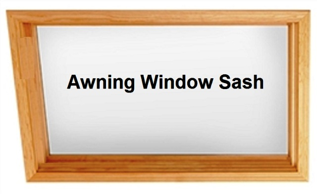 Awning Style Wood Window Sash Replacement Kit No Glass