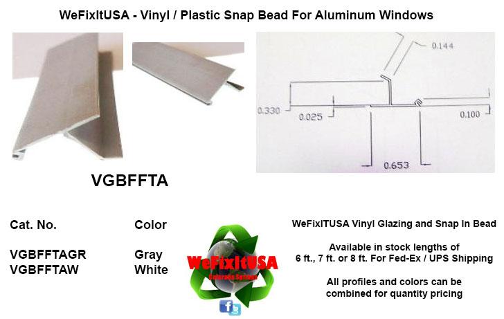 Glazing Bead For Aluminum Vinyl Wood Windows Doors