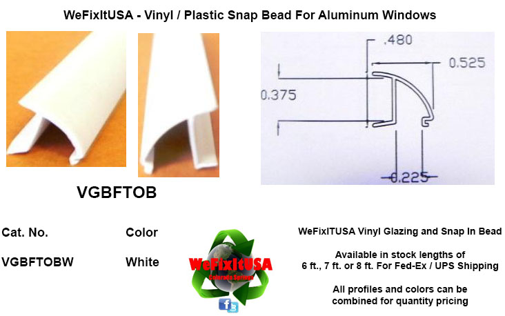 Glazing Bead For Aluminum Vinyl Wood Windows Doors