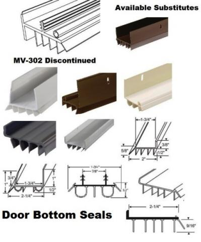 Featuring the best online selection of door bottom sweeps and seals for residential entry and patio doors.