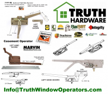 Helping with window and door replacement parts direct to the islands - All Truth Window & Door Stainless Hardware Products.