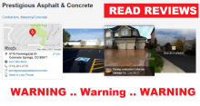 Learn how to avoid this concrete contractor, get the latest scam reports and reviews, BBB information and other details for Prestigious Asphalt & Concrete in Colorado Springs, CO.