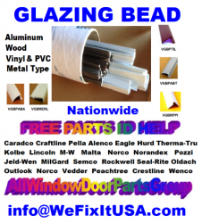 Snap In Glazing Bead Aluminum Vinyl Wood Windows