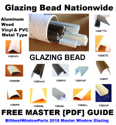 California Window Glazing Bead Supply Snap In Bead Pvc