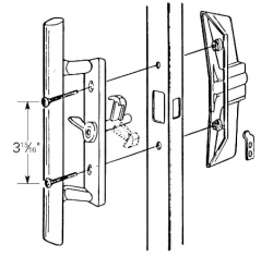 Sliding Patio Door Replacement Handle Without Key