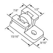 Sliding Window Parts Rollers Wheels Plastic Housing Metal