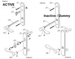 Pvd marvin hardware patio door set bs sn orbz pvd active for Salt air resistant door hardware