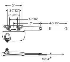 Truth Window Hardware Ellipse Style 4 1 2 Quot Split Arm