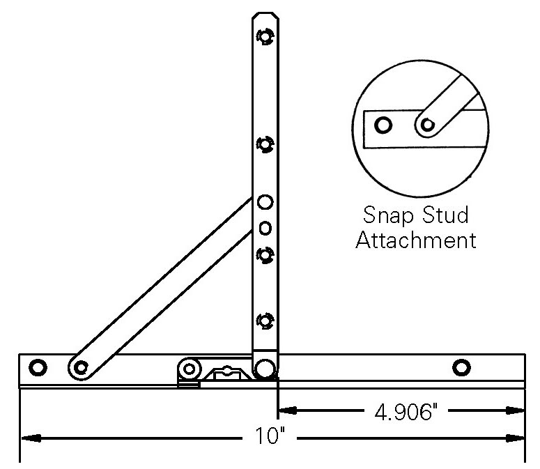 Truth Entrygard Casement Window Hinge 10 Quot Stainless Track
